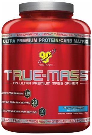 True Mass Protein Powder, 5.75 Pounds, Strawberry Flavor 834266006502