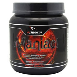 Maniac, 1.81 Pounds, Fruit Punch Flavor 804879162049