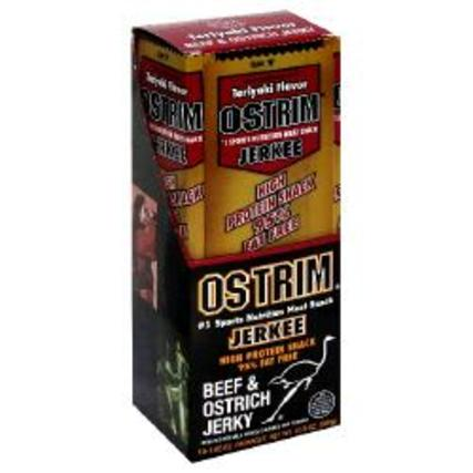 Ostrim Beef and Ostrich Jerkee, 10 Packets