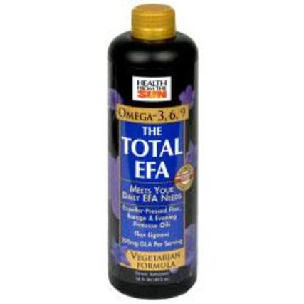 Health From The Sun Total EFA Vegetarian Liquid, 16 Fluid Ounces