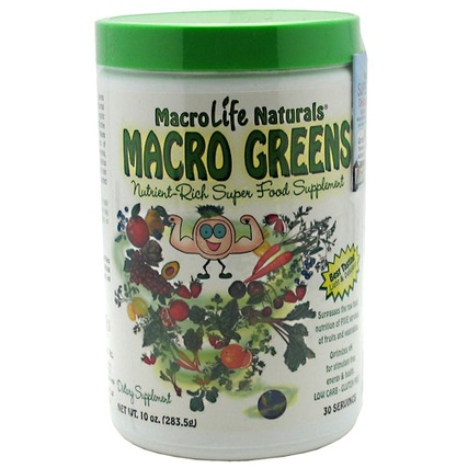Macro Life Naturals Macro Greens Super Food, 10 Ounces