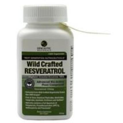 Genceutic Naturals Wild Crafted Resveratrol 100 mg., 60 Capsules