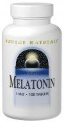 Source Naturals Sublingual Melatonin 1 mg. per tablet, 100 Tablets