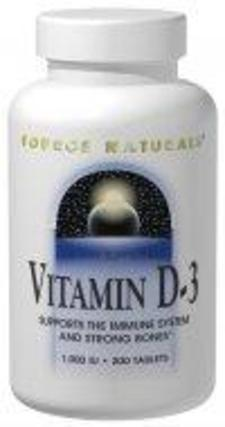 Source Naturals Vitamin D-3 1000 I.U., 200 Tablets