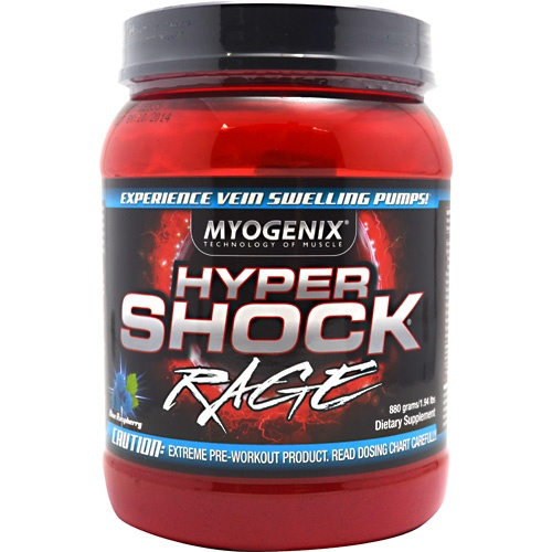 HyperShock Rage, 40 Servings, Blue Raspberry Explosion Flavor 680269382491