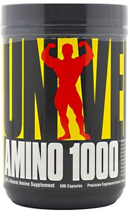 Universal Nutrition Amino 1000, 500 Capsules