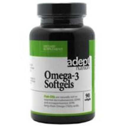 Adept Nutrition Omega-3 Softgels, 90 Softgels