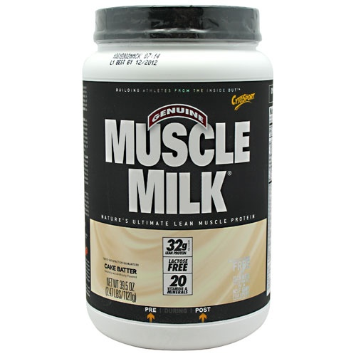 Muscle Milk, 2.48 Pounds, Strawberries n Creme Flavor 660726503300