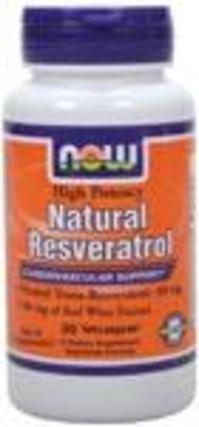 NOW Foods Natural Resveratrol 200 mg. per capsule, 60 Vegi Capsules