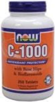 NOW Foods Vitamin C-1000, 250 Capsules