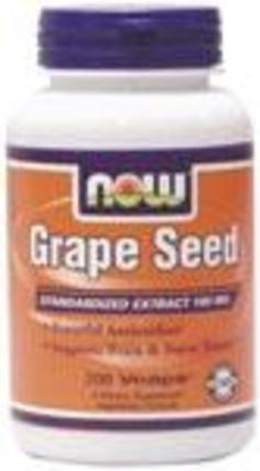 NOW Foods Grape Seed 100 mg. per capsule, 200 Vegi Capsules