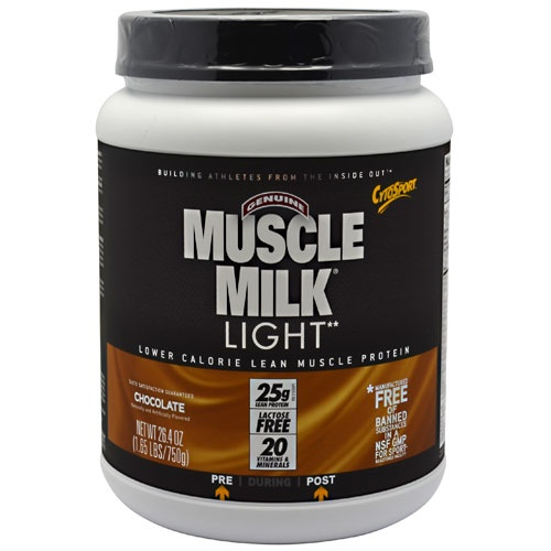Muscle Milk Light, 1.64 Pounds, Strawberry Milkshake Flavor 660726593301