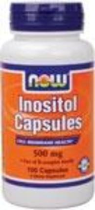 NOW Foods Inositol 500 mg. per capsule, 100 Capsules
