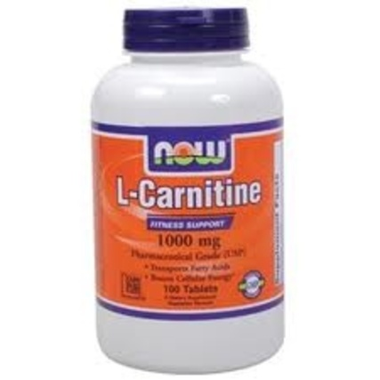 NOW Foods L-Carnitine 1000 mg., 100 Tablets