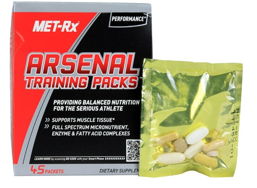 MET-RX Arsenal Training Packs, 45 Packets