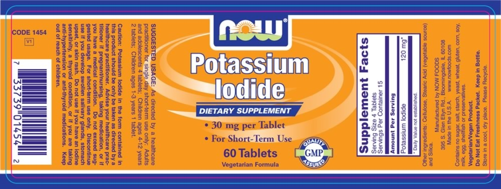 NOW Foods Potassium Iodide, 60 Tablets