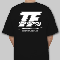 TFSupplements T-Shirt (Black), Small Flavor