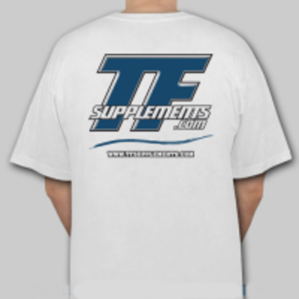 TFSupplements TFSupplements T-Shirt (White), X-Large Flavor