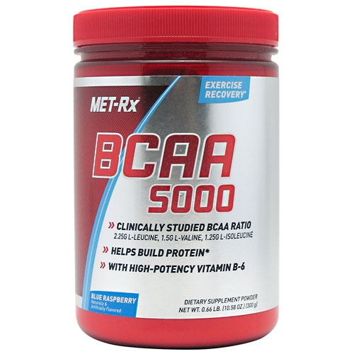 BCAA 5000 Powder, 300 Grams, Blue Raspberry Flavor 786560517140