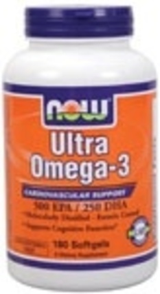 NOW Foods Ultra Omega-3, 180 Softgels