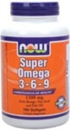 NOW Foods Super Omega 3-6-9 1200 mg. per gel, 180 Softgels