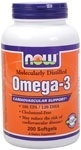 NOW Foods Omega-3, 200 Softgels