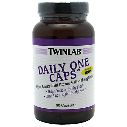 Twinlab DAILY ONE CAPS WITHOUT IRON, 90 Capsules