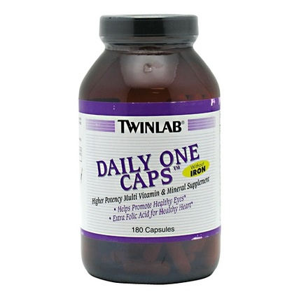 Twinlab DAILY ONE CAPS WITHOUT IRON, 180 Capsules