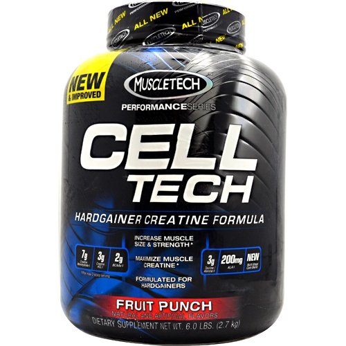 Performance Series Cell-Tech, 6 Pounds, Fruit Punch Flavor 631656703214