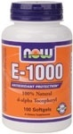 NOW Foods Vitamin E 1000 I.U., 100 Softgels
