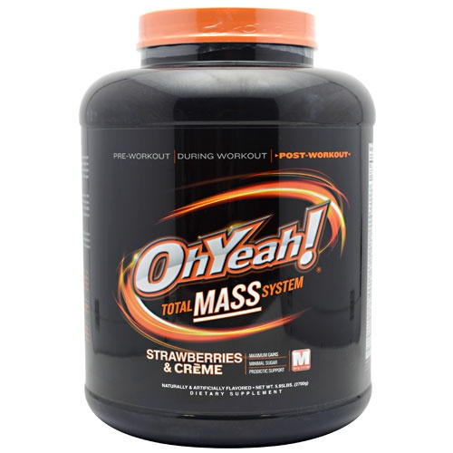Oh Yeah! Total Mass System, 5.95 Pounds, Cookies N' Cream Flavor 788434110747