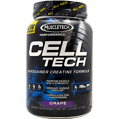 Performance Series Cell-Tech, 3 Pounds, Grape Flavor 631656703207