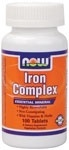 NOW Foods Iron Complex Vegetarian, 100 Tablets