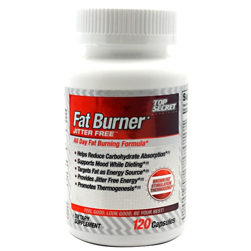 Top Secret Nutrition Fat Burner Jitter Free, 120 Capsules