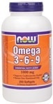NOW Foods Omega 3-6-9 1000 mg. per gel, 250 Softgels