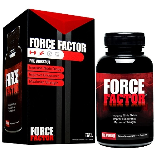 Force Factor Pre-Workout Nitric Oxide Booster, 120 Capsules
