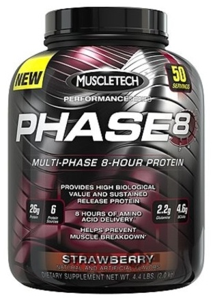 PHASE-8 MULTI-PHASE, 50 Servings, Strawberry Flavor 631656703542