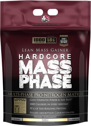 MASS PHASE, 10 Pounds, Chocolate Flavor 856036003122
