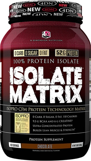 4 Dimension Nutrition Isolate Matrix, 3 Pounds