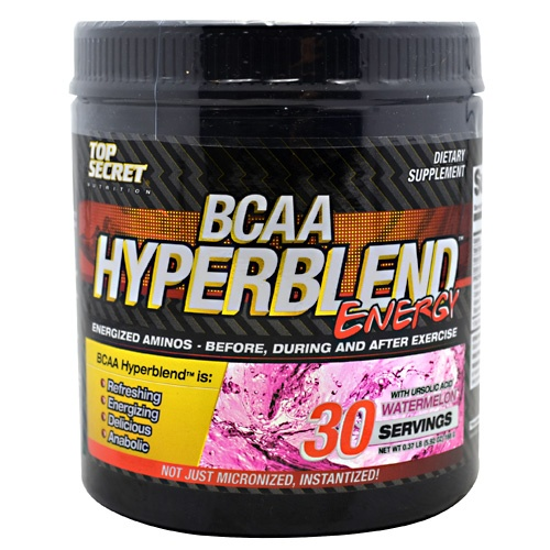 Top Secret Nutrition BCAA HyperBlend Energy Powder, 30 Servings