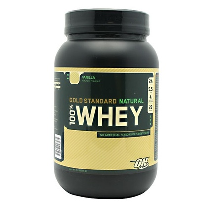 Optimum Nutrition 100% Natural Whey Gold Standard, 2 Pounds
