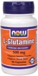 NOW Foods L-Glutamine 500 mg. per capsule, 60 Capsules