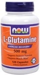 NOW Foods L-Glutamine 500 mg. per capsule, 120 Capsules