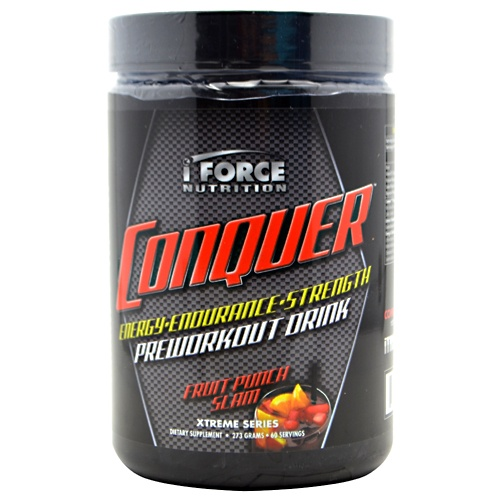 Conquer, 60 Servings, Fruit Punch Slam Flavor 081950001255