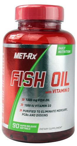 MET-RX Fish Oil with Vitamin D, 90 Softgels
