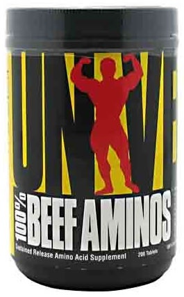 Universal Nutrition 100% Beef Aminos, 200 Tablets