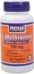 NOW Foods L-Methionine 500 mg. per capsule
