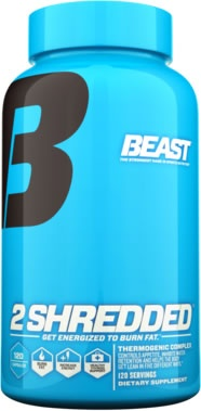 2 Shredded by Beast Sports Nutrition, 120 Capsules 631312705514