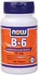 NOW Foods Vitamin B-6 50 mg. per tablet, 100 Tablets