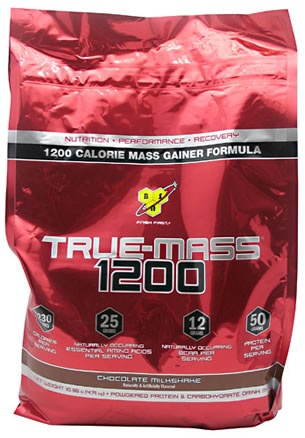 True Mass 1200, 10.25 Pounds, Strawberry Milkshake Flavor 834266006526